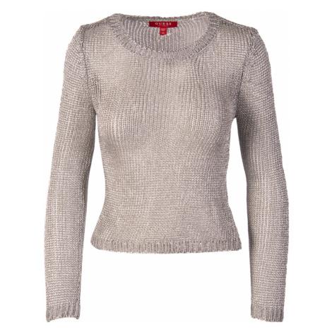 Guess dámský svetr stříbrný průhledný