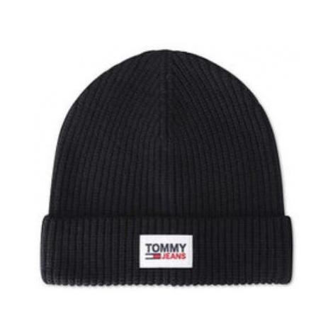 Tommy Hilfiger Tommy Jeans pánská černá čepice PATCH BEANIE