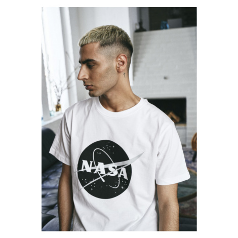 Mr. Tee NASA Black-and-White Insignia Tee white