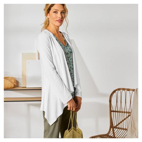 Blancheporte Splývavý svetr s cípy bílá