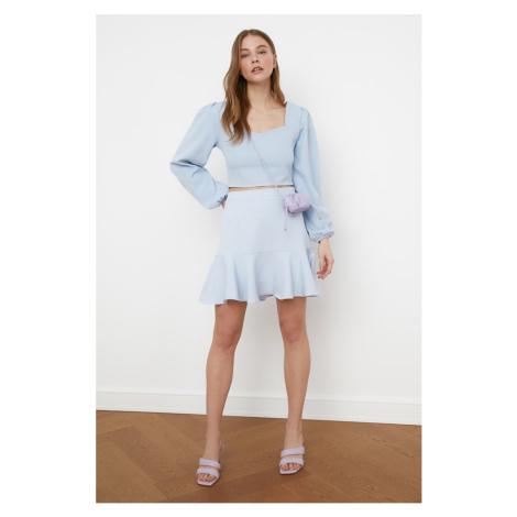 Trendyol Blue Flywheet Skirt