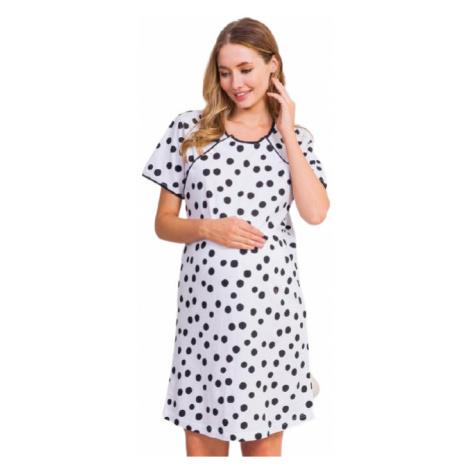 Dámská noční košile mateřská Vienetta Secret Katka | bílá
