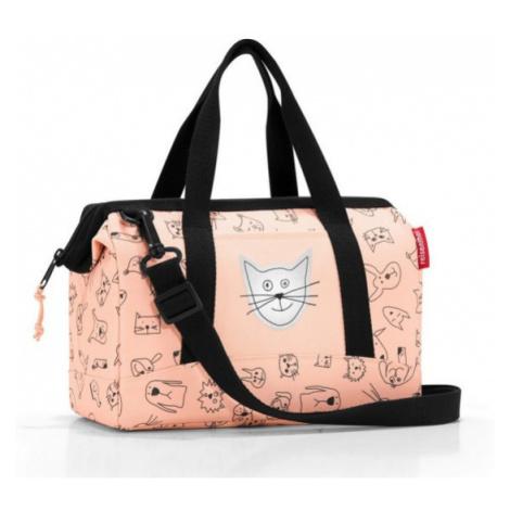 Cestovní taška Reisenthel Allrounder XS kids Cats and dogs rose