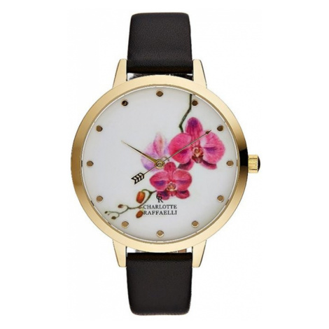 Černo-zlaté hodinky CRF023 Charlotte Raffaelli