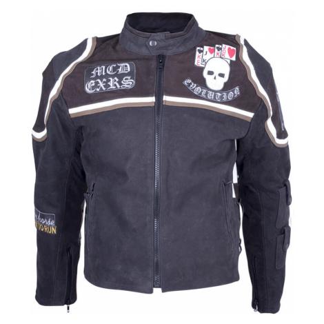 Kožená Moto Bunda Sodager Micky Rourke Černá S Grafikou