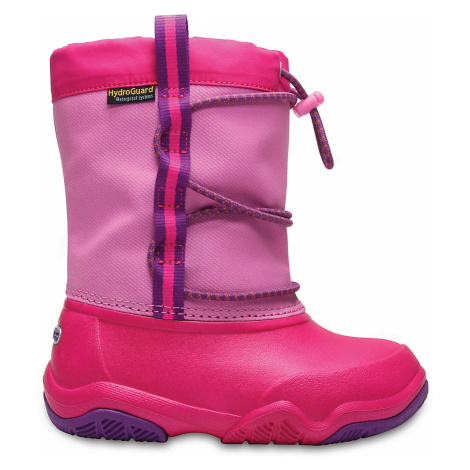 Crocs Swiftwater Waterproof Boot K PtPk/CPk J3
