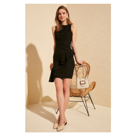 Trendyol Black Frilled Dress