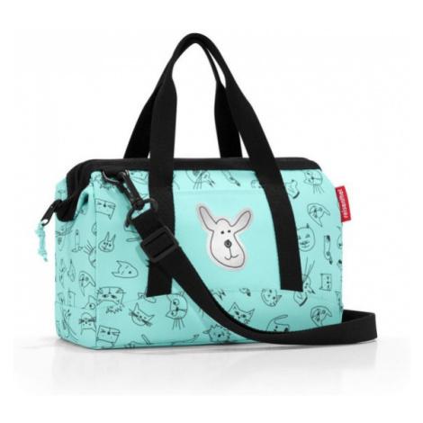 Cestovní taška Reisenthel Allrounder XS kids Cats and dogs mint