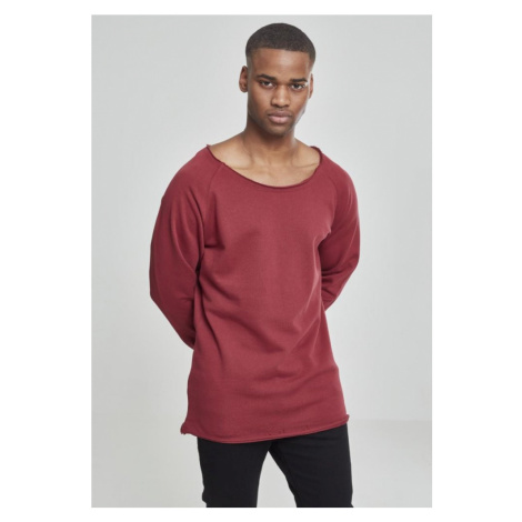 Long Open Edge Terry Crewneck - burgundy Urban Classics