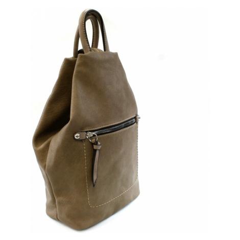 Přírodně hnědý moderní dámský batoh Abony Mahel