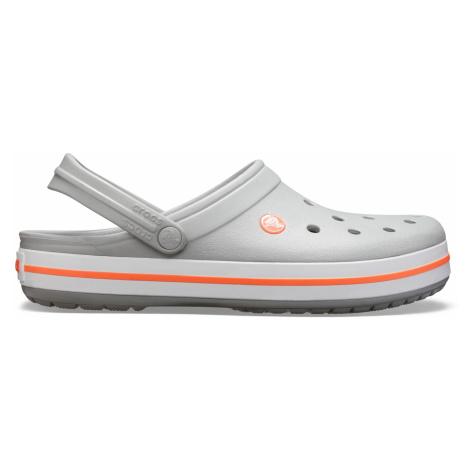 Crocs Crocband Light Grey/Bright Coral