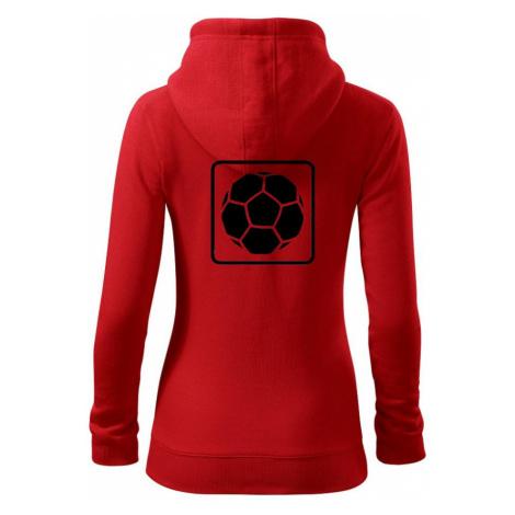 Fotbalový míč emblem - Dámská mikina trendy zippeer s kapucí