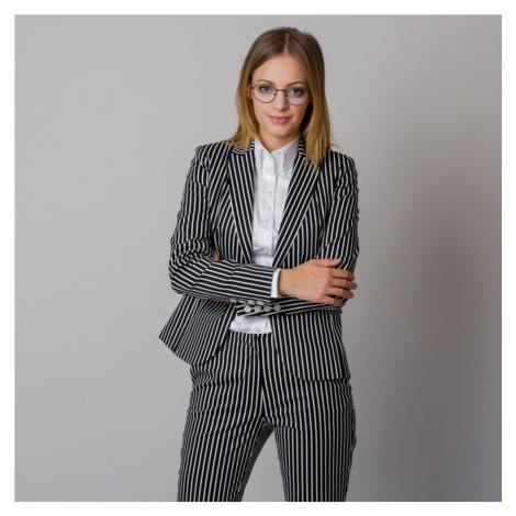 Dámské sako s černo-bílým pruhovaným vzorem 12184 Willsoor