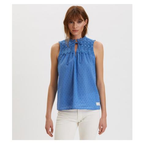 Halenka Odd Molly Finest Embroidery Blouse - Modrá