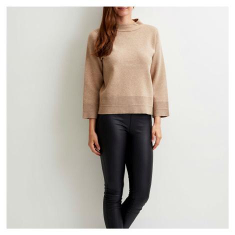 Béžový pletený svetřík – Violivina Vila