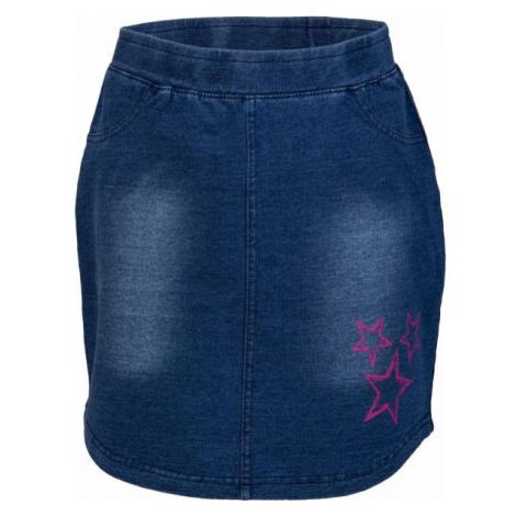 Lewro UMINA tmavě modrá - Dívčí sukně džínového vzhledu