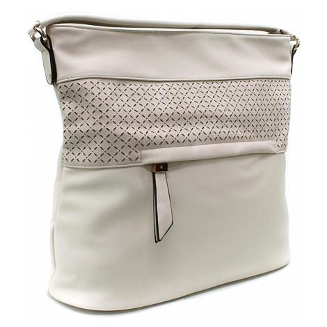 Béžová dámská crossbody kabelka s vyraženým vzorem Jocelyn New Berry