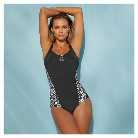 Blancheporte Jednodílné zeštíhlující plavky, bez kostic černá