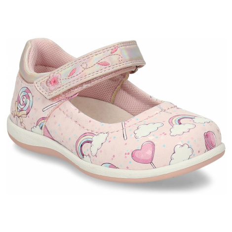 Růžové dívčí sandály na suchý zip Bubblegummers