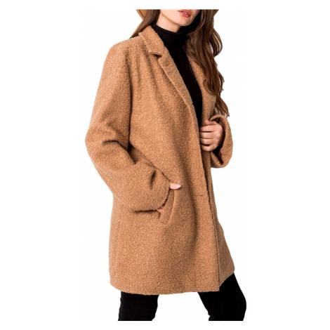 Béžový dámský teddy kabátek BASIC