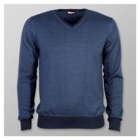 Pánský svetr Willsoor (velikosti do 5XL) 7876 v modré barvě
