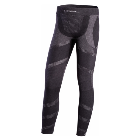 Dlouhé dětské funkční kalhoty IRON-IC - černo-šedá Intimidea