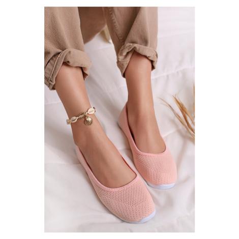 Světle růžové baleríny Nalla Ideal