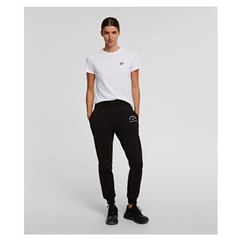 Tepláky Karl Lagerfeld Address Logo Sweatpants - Černá