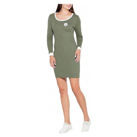 Zelené sportovní šaty s dlouhým rukávem Katrus