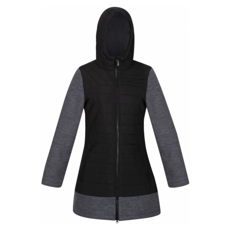 Dámský prošívaný kabát Regatta ALIVIA černá/šedá