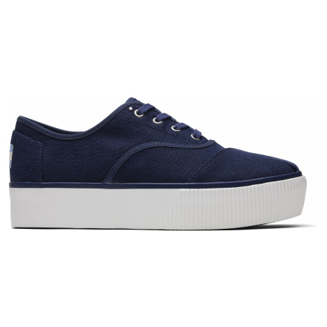 NAVY HERITAGE CANVAS WM CRDBK CASLP Toms