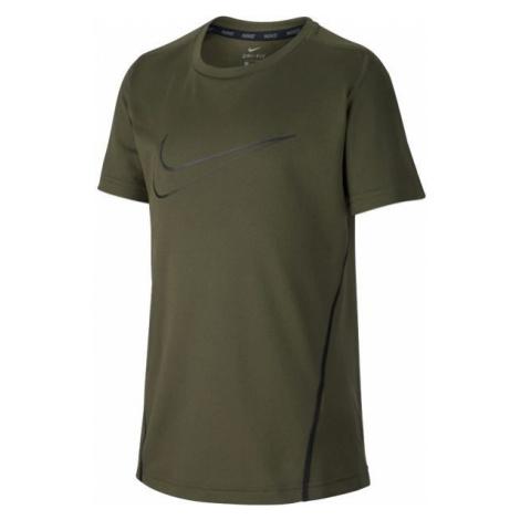 Nike NK DRY TOP SS tmavě zelená - Chlapecké sportovní triko
