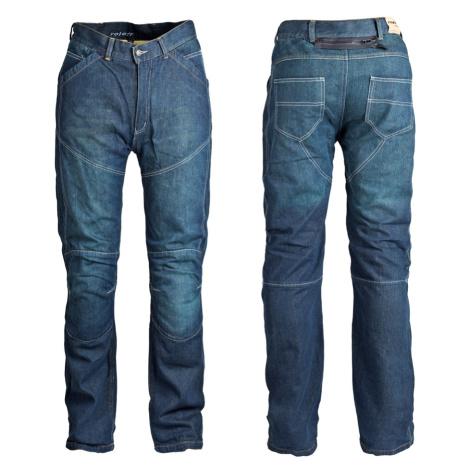 Pánské Jeansové Moto Kalhoty Roleff Aramid Modrá