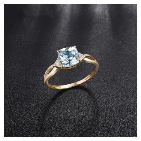 Nádherný zlatý snubní prsten 14k s diamanty zlato ryzost 585/1000