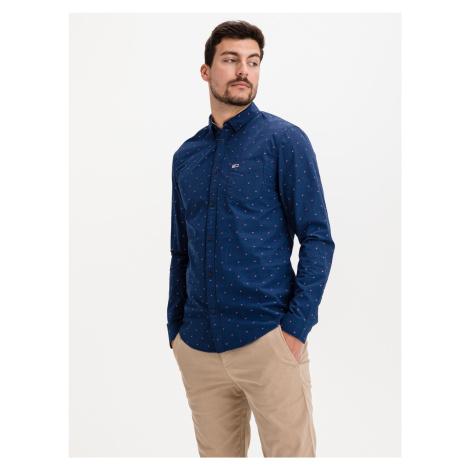 Dobby Košile Tommy Jeans Modrá Tommy Hilfiger