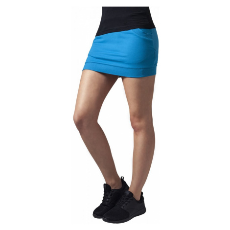 Ladies French Terry Skirt - turquoise Urban Classics