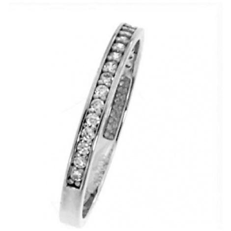 Dámský zlatý prsten se zirkony RDE0124