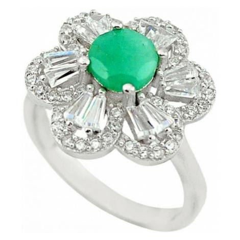 AutorskeSperky.com - Stříbrný prsten se smaragdem - S3766