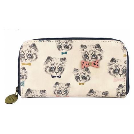Disaster bílá dámská peněženka Meow Wallet Repeat Print