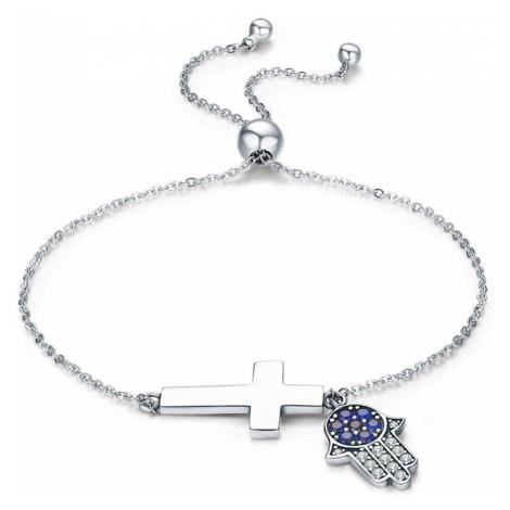 Linda's Jewelry Stříbrný náramek Síla Víry INR073