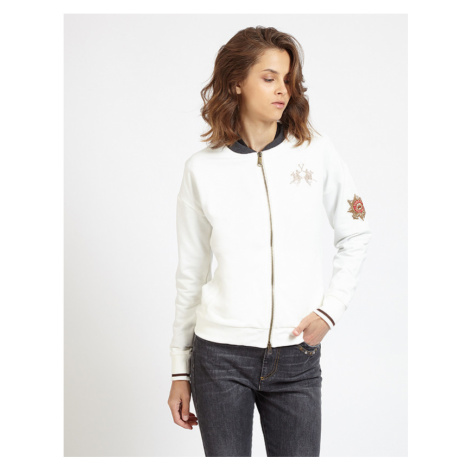 Mikina La Martina Woman Fleece Full Zip - Bílá