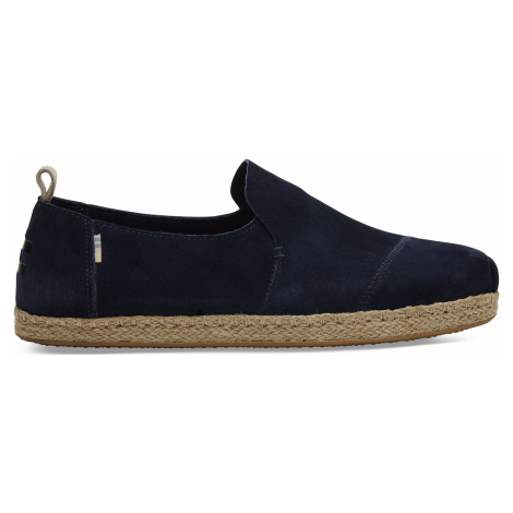Navy Pig Suede Men Deconstructed Alpargata Toms