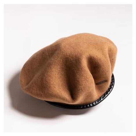 Hnědý vlněný baret Monty Wool Beret Kangol