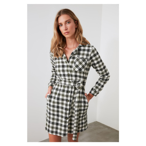 Trendyol Multicolored BeltEd Shirt Dress