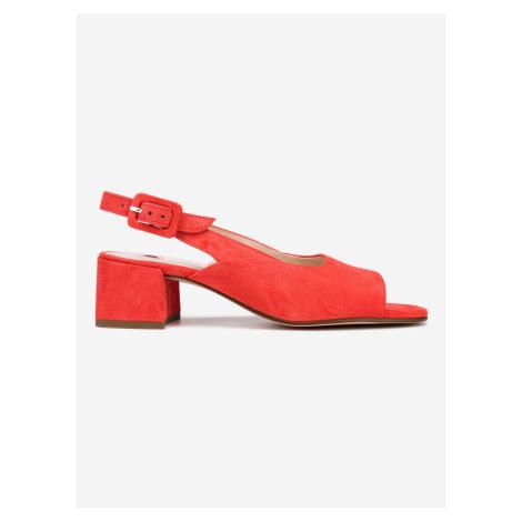 Boty na podpatku Högl Červená