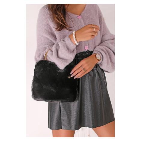 Černá kožešinová kabelka do ruky 30640 Tamaris