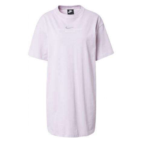Nike Sportswear Šaty pastelová fialová / bílá / stříbrná