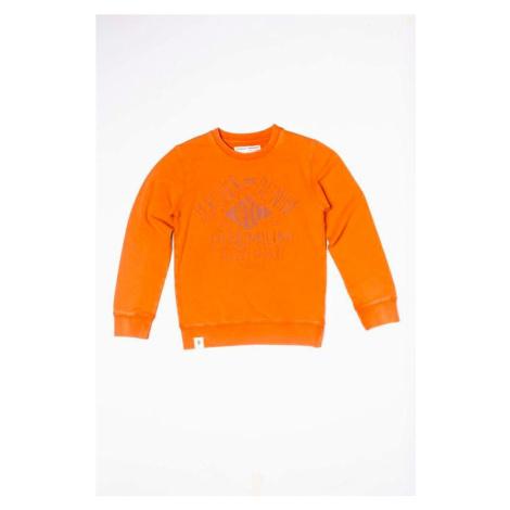 Mikina chlapecká s potiskem, Minoti, TUNES 9, oranžová