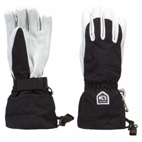 Lyžařské rukavice Hestra ARMY LEATHER HELI SKI FEMALE bílá|černá