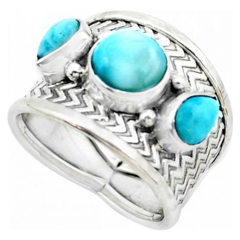 AutorskeSperky.com - Stříbrný prsten s larimarem - S3210